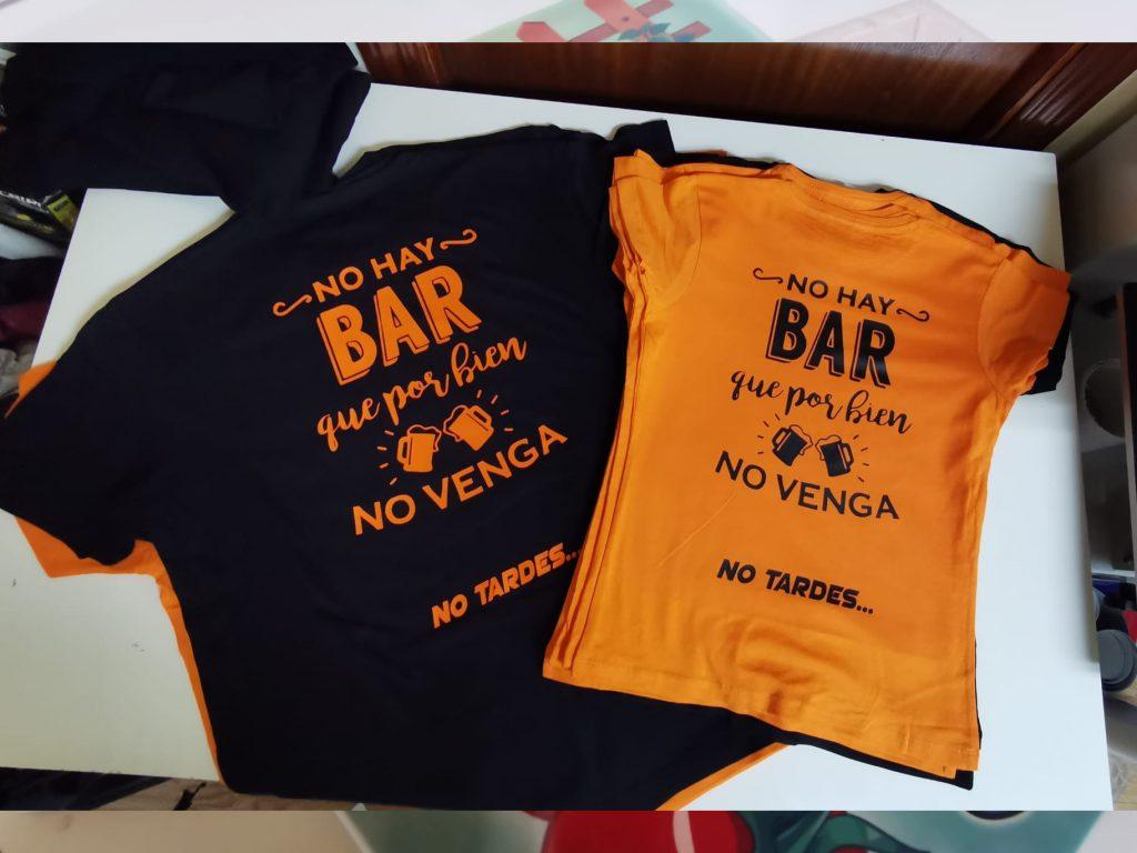 camisetas para bar
