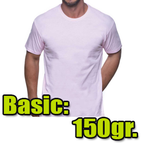 Camiseta algodón 150gr.