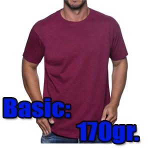 camiseta algodón 170gr