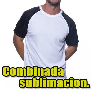 camiseta mangas contrastadas