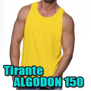 Camiseta tirantes algodón 150gr